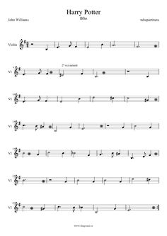 Harry Poter by John Williams Sheet Music for Violin Soundtrack of Harry Poter