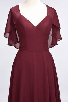 A-Line Chiffon Satin V-Neck short-sleeves Floor-Length Bridesmaid Dress Beautiful Casual Dresses, Orange Bridesmaid Dresses, Short Bridesmaid Dresses, Wedding Dresses, Kalamkari Dresses, Custom Dresses, Designer Dresses, Evening Dresses, Wrap Dress
