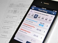 Time Billing app - Mobile Interface on Creattica: Your source for design inspiration