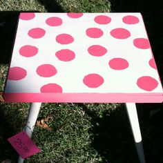 Great idea! Paint hot pink & maybe some black polka dots on table to match her minnie mouse room