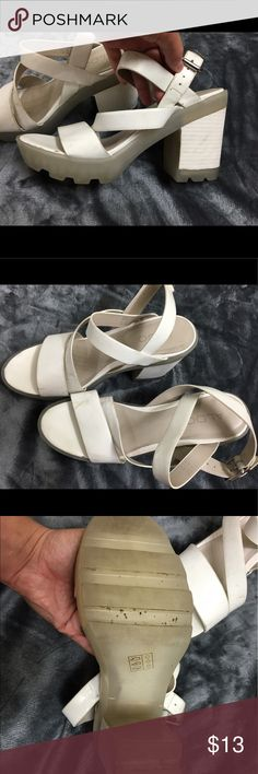Also Rubber Heels Super cute, have some wear and marks, can be cleaned! Aldo Shoes Heels