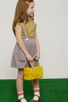 Check Suspender Skirt | Olive Juice Collection