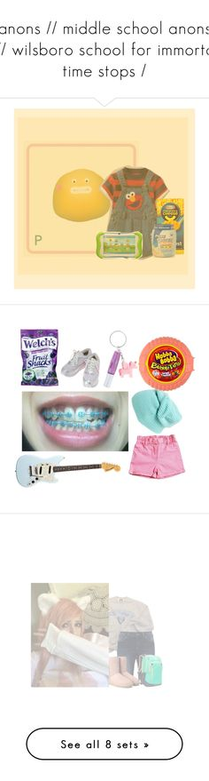 """""""anons // middle school anons /// wilsboro school for immortal time stops /"""" by misskaya1012 ❤ liked on Polyvore featuring Sesame Street, living room, men's fashion, menswear, BP., River Island, Columbia, Silver Jeans Co., adidas and UGG"""