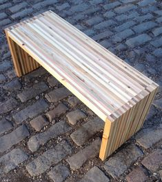 Reclaimed pallet wood bench/coffee table by Streetwood on Etsy