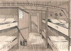 Hamburg America line of steamships steerage section for immigrants