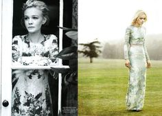 Erdem dress worn by Carey Mulligan for Harper's Bazaar