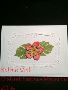 Stampin up Botanical Blooms and Spellbinders die