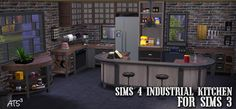 Around the Sims 3 | Downloads | Objects | Kitchen | Sims 4 Conversion - Industrial Kitchen