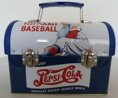 "Style Dome Top ""Pepsi 8"" Vest Pocket Baseball Tin Lunchbox"