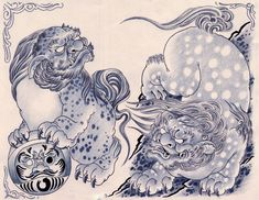 lions...actually Chinese foo dogs
