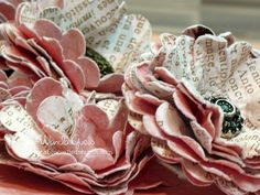 I have a fun project to share with you today! I hope this post inspires you to make some pretty vintage paper flowers to use on your craft projects. I had so much fun making these and if I didn't have a job and chores, I would have made many more! They are time consuming, but easy. I have seen these made before by many stampers and I've been wanting to make some and put my personal twist on them. I really would like to make some Fall colored ones next...with glitter...hmmmm... Here is a…