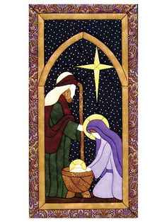 Quilt Magic Holy Family Quilt Magic Kit, x ** Read more at the image link. (This is an affiliate link) Christmas Rugs, Christmas Applique, Felt Christmas Decorations, Christmas Nativity Scene, Christmas Sewing, Christmas Embroidery, Christmas Love, Christmas Crafts, Stained Glass Quilt