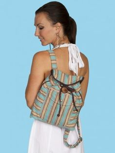 Whether you are heading to the State Fair or just going about town. This backpack is a great western fashion statement! Turquoise Twine : Scully® Cantina Collection Backpack