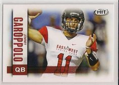 2014 Sage Hit Low Series Jimmy Garoppolo card # 10 Eastern Illonois