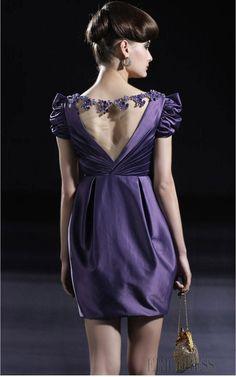 Charming A-Line Mini Bateau Prom/Cocktail Dress