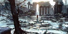 ArtStation - Snowy Ruined Cathedral , Jason Scheier
