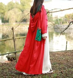Womens Retro Hooded Chinese Style Dress Casual Cotton Linen Blend Jacket Outwear