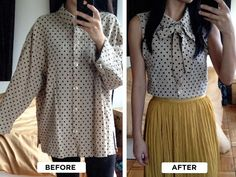 Do it yourself bow tie blouse