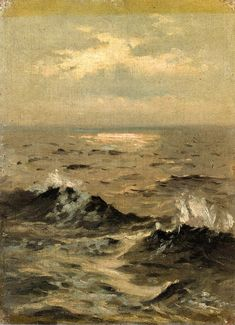 John Singer Sargent Seascape painting for sale - John Singer Sargent Seascape is handmade art reproduction; You can buy John Singer Sargent Seascape painting on canvas or frame. Paintings I Love, Oil Paintings, Ocean Paintings, Romantic Paintings, Painting Art, Henri Matisse, American Artists, Painting Inspiration, Art History