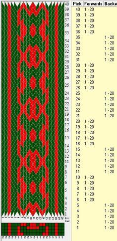 20 tarjetas, 2 colores, secuencia 5F-5B // sed_309 diseñado en GTT༺❁