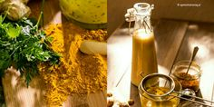 złote mleko i pasta z kurkumy Winter Drinks, Natural Healing, Health And Beauty, Garden Tools, Light Bulb, Beverages, Healthy Recipes, Healthy Food, Table Decorations