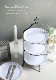 *クリスマス仕様のAfternoon Tea什器* - *Nunu's HouseのミニチュアBlog*           1/12サイズのミニチュアの食べ物、雑貨などの制作blogです。