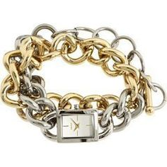 DKNY Double-wrap Two-tone Bracelet Silver Dial Women's watch #NY8236 DKNY. $129.99. Warranty: Watch Warehouse Two Year Warranty. Polished two-tone gold/silver stainless steel double-wrap open link bracelet with toggle-clasp. 50 meters/165 feet water resistant Made in:Imported. Mineral crystal. Polished silver-tone stainless steel rectangular case, Polished steel crown, Stainless steel caseback. Save 16%!