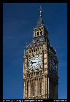 Big Ben, the clock tower of the Westminster Palace. London, England, United Kingdom (color)