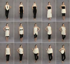 How to turn one piece of recycled cloth into 14 outfits and abag #ecopin