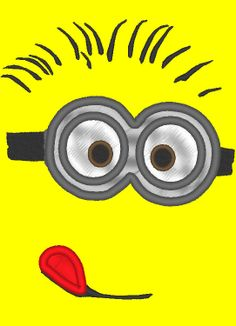 Hey, I found this really awesome Etsy listing at https://www.etsy.com/listing/180342973/minion-head-applique-embroidery-for