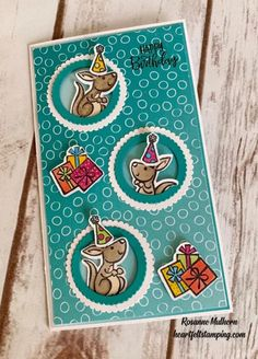 Small Gift Bags, Small Gifts, Card Tags, I Card, Stampin Pretty, Kids Birthday Cards, Birthday Ideas, Animal Cards, Card Making Inspiration