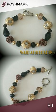 I just added this listing on Poshmark: Gold & Black Bali Style Beaded Bracelet. #shopmycloset #poshmark #fashion #shopping #style #forsale #Jewelry