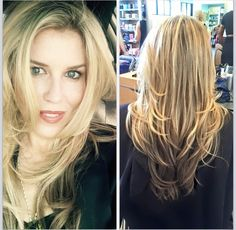 Beautiful #highlights using #goldwell color. Followed by a #haircut with face framing #layers. #hair #ftlauderdalehair #blonde #beauty #hair #longhair