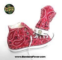 0afb5a5d83a773 Bandana Fever - Bandana Fever Custom Bandana Converse All-Star Chuck Taylor  Hi Red