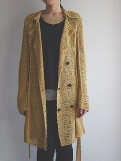 trench knit coat