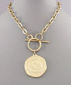 The Statement Replica Coin Necklace - Liza Byrd Boutique