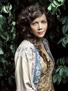 "Maggie Gyllenhaal from ""The Secretary"" (inspiration for Benedetta in ""Enslaved By Starlight""; the movie is contemporary but the story of a trapped young woman turning her weaknesses into strengths is forever)"