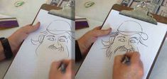 Step by Step Instructions How To Draw Caricatures - Expert Video Lessons from 30 year veteran caricaturist Artist Graeme Biddle