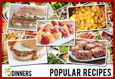 Here are some of our most popular recipes on $5 Dinners!