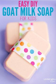 Citrus Goat Milk Soap for Kids Recipe Check out this easy tutorial for homemade goat milk soap for kids. This simple DIY melt-and-pour recipe is easy to make and uses essential oils for a lovely scent. Fall Essential Oils, Soap Melt And Pour, Nails Polish, Soap Making Supplies, Homemade Soap Recipes, Homemade Soap For Kids, Homemade Gifts, Goat Milk Soap, Hygiene