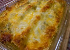 Spicy Green Chili Chicken Lasagna - skip the ckn and make either veggie or cheese version