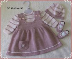 siple baby dresses embellished with embroidery orgu bebek elbiseleri modelleri - PIPicStatsThis Pin was discovered by ElvYou can do this for your baby by examining this wonderful dress.An adorable knit for your litt Baby Cardigan Knitting Pattern, Baby Knitting Patterns, Knitting For Kids, Crochet For Kids, Layette Pattern, Knit Baby Dress, Baby Vest, Baby Jumper, Kid Outfits
