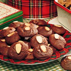 Chocolate-Almond Cookies.  Low in sugar!  May help with that sweet tooth while trying to lose weight.