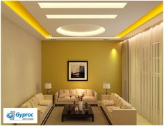 Gyproc ‪#‎falseceiling‬ can completely change your living room & give it a refined and artistic look! Visit www.gyproc.in