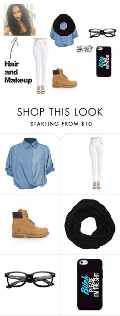 """""""Untitled #240"""" by thatmindlesschick ❤ liked on Polyvore featuring Chicnova Fashion, Wet Seal, Timberland and VILA"""