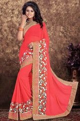 Gajjaria Color Georgette Festival & Party Wear Sarees : Nilima Collection YF-38138