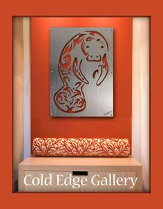 Manatee Wall Art Manatee Sculture Manatee Metal by ColdEdgeGallery Glittering Lights, Large Metal Wall Art, Wall Anchors, Paint Background, Sea Art, Metal Walls, Art Forms, Spectrum, Angles