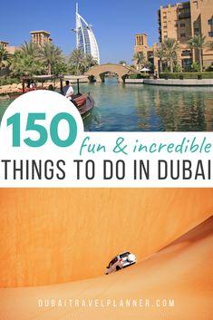 Dubai Places To Visit, Visit Dubai, Dubai Uae, Cool Places To Visit, Dubai Vacation, Dubai Travel, Stuff To Do, Things To Do, Travel Planner