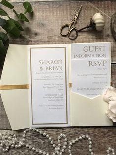 Bespoke Wedding Invitations, Wedding Invitation Samples, Pocketfold Invitations, Personalized Invitations, Spring Wedding Inspiration, Colour Combinations, Wax Seals, Handmade Design, Gold Wedding
