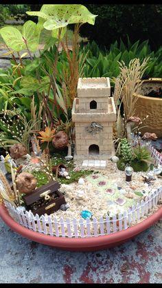Beach fairy garden we made